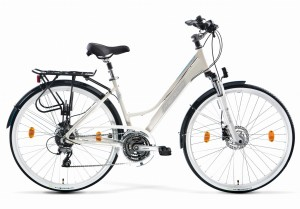 Rower trekkingowy MERIDA FREEWAY 9200 DISC LADY, 40CM, WHITE/LIGHT BLUE