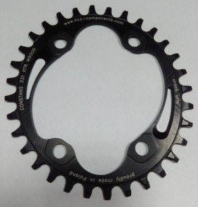 Zębatka owalna HCC Components Narrow Wide do XTR-M9000 36T czarna